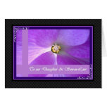 Daughter and Son-in-Law -  Wedding Congratulations Greeting Card