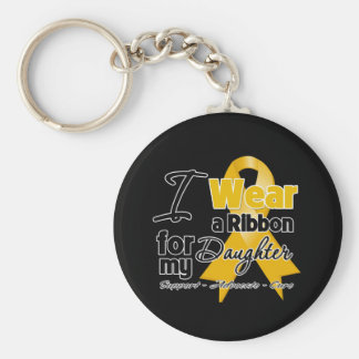 Daughter - Appendix Cancer Ribbon Keychain