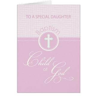 Daughter Baptism Congratulations Pink Child of God Card