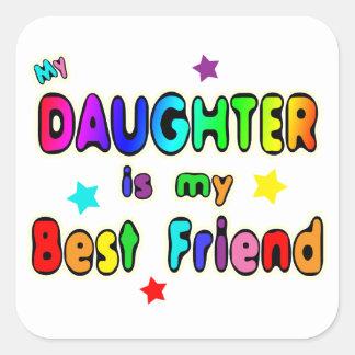 Daughter Best Friend Square Sticker