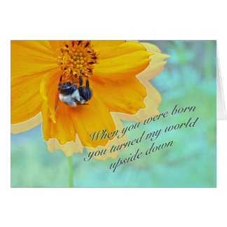 Daughter Birthday Bumblebee on Cosmos Card