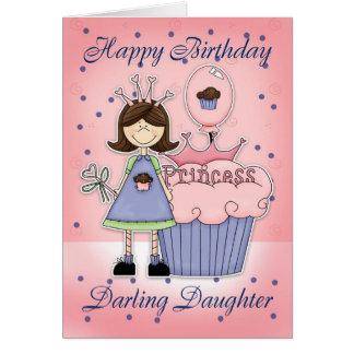 Daughter Birthday Card - Cupcake Princess