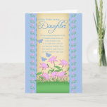 """daughter birthday card flowers and butterflies<br><div class=""""desc"""">daughter birthday card flowers and butterflies</div>"""
