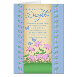 daughter birthday card flowers and butterflies
