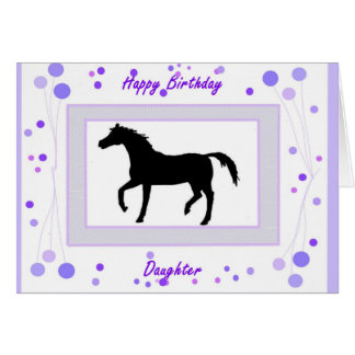 Daughter Birthday Card, Horse Card