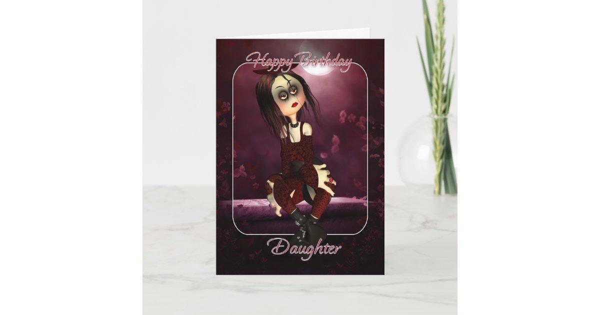Daughter Birthday Card Moonies Rag Doll Goth G Zazzle