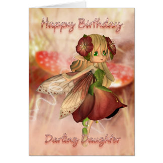 Daughter Birthday Card With Strawberry & Cream Fai