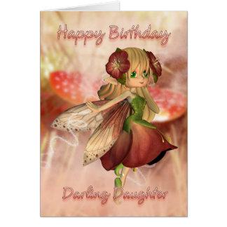 Daughter Birthday Card With Strawberry & Cream Fai