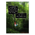 Daughter Birthday, Humorous Gnome in Forest Greeting Card