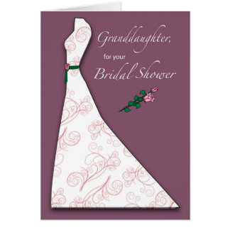 Daughter Bridal Shower Congratulations Light Blue Card
