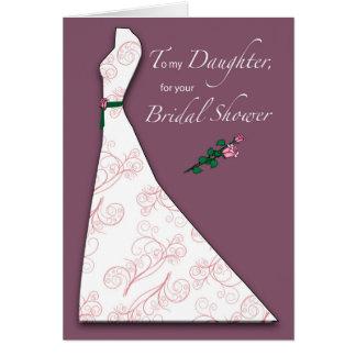 Daughter, Bridal Shower Dress Silhouette Plum Card