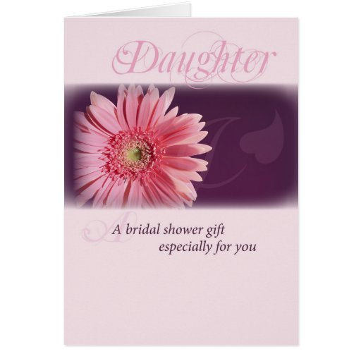 Daughter, Bridal Shower Pink Daisy Card Zazzle