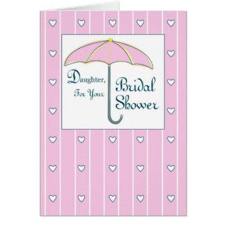 Daughter, Bridal Shower Pink Umbrella Card
