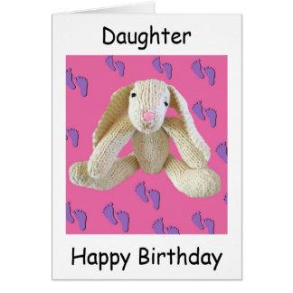 Daughter Bunny Rabbit Birthday Card