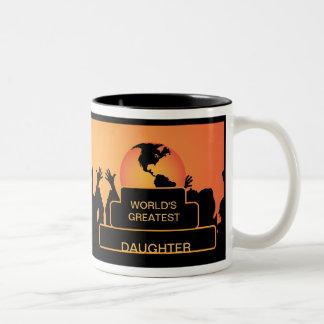 Daughter Cheering World's Greatest Mug