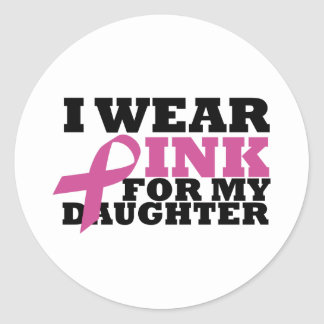 daughter classic round sticker