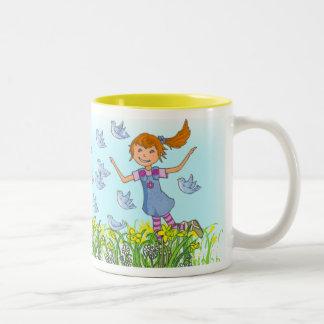 Daughter custom name spring time girls fun mug
