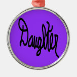 Daughter design christmas tree ornaments