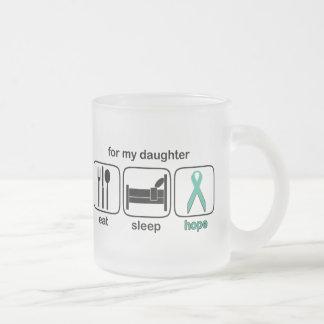 Daughter Eat Sleep Hope - Ovarian Frosted Glass Coffee Mug
