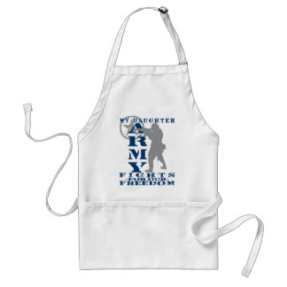 Daughter Fights Freedom - ARMY Adult Apron