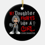 Daughter Fights Like Girl 42.9 Diabetes Christmas Tree Ornament