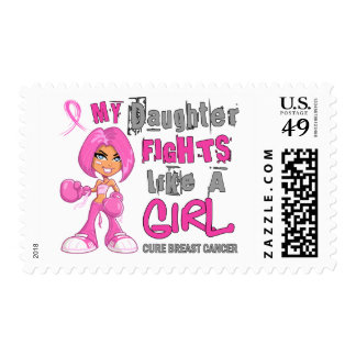 Daughter Fights Like Girl Breast Cancer 42 9 png Postage