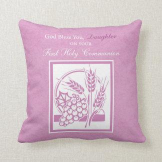 Daughter First Communion, Pink Throw Pillow