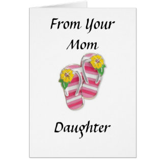 DAUGHTER FROM MOM AT GRADUATION CARD