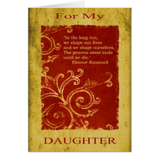 Daughter Graduation/Birthday Card