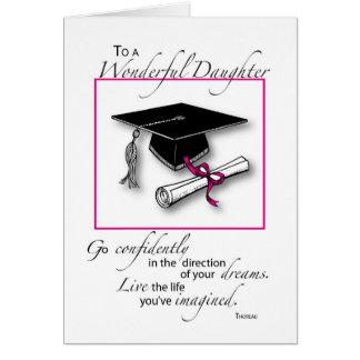 Daughter Graduation Pink Black Card