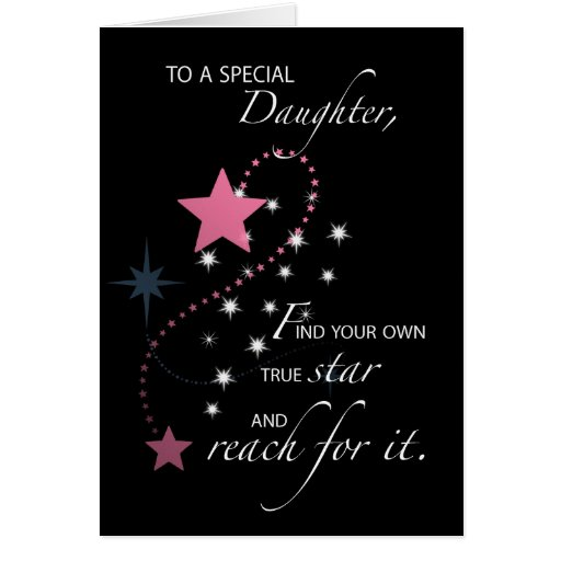 Daughter, Graduation Star Congratulations Greeting Cards
