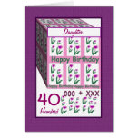 DAUGHTER - Happy 40th Birthday Greeting Cards