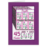 DAUGHTER - Happy 45th Birthday Greeting Card