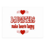 Daughter Hearts Postcard