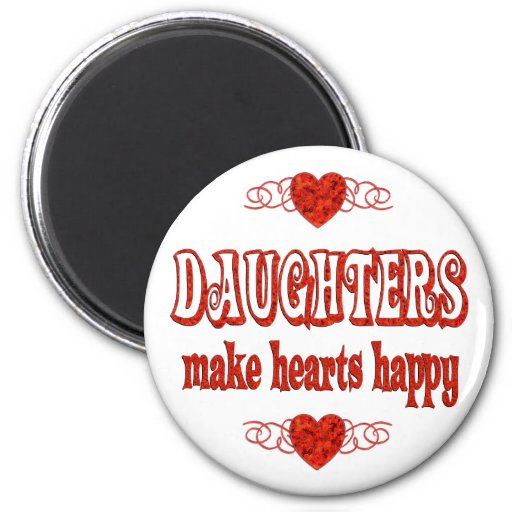 Daughter Hearts Refrigerator Magnets