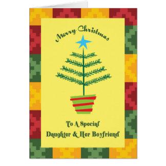 Daughter & Her Boyfriend Primsy Christmas Card