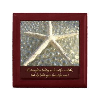 Daughter Holds Your Heart Forever gift Starfish Keepsake Boxes