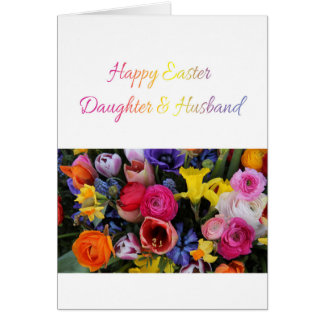 Daughter & Husband   Happy Easter Card