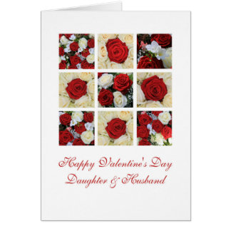 Daughter & Husband Happy Valentine's Day Roses Card