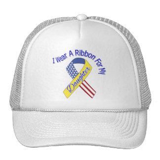 Daughter - I Wear A Ribbon Military Patriotic Trucker Hat