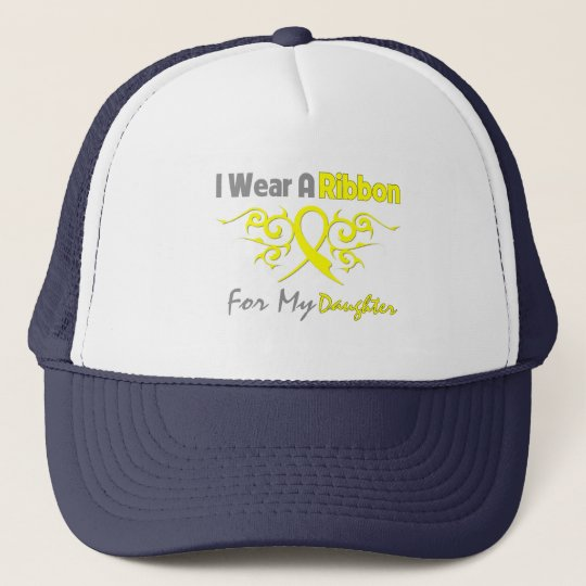 Daughter - I Wear A Yellow Ribbon Military Support Trucker Hat