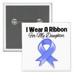 Daughter  - I Wear Periwinkle Ribbon Pinback Button