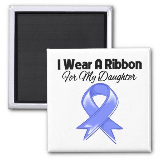 Daughter  - I Wear Periwinkle Ribbon Refrigerator Magnet