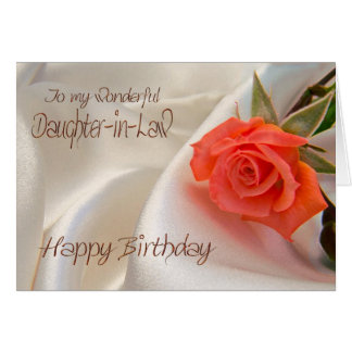 Daughter-in-Law, a birthday card with a pink rose