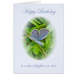 Daughter-In-Law Birthday Blue Butterfly Card
