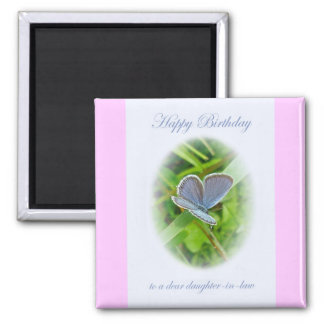 Daughter-In-Law Birthday Blue Butterfly Magnet