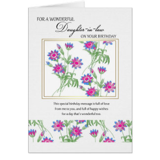 daughter-in-law birthday card - birthday card for