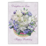 Daughter-in-Law Birthday Card with white Crocuses.