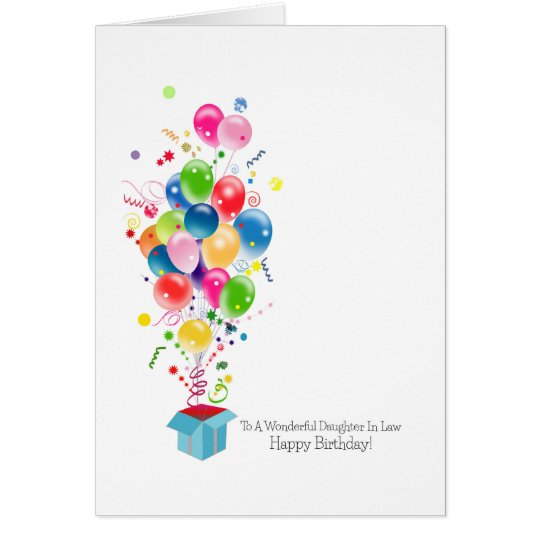 Daughter In Law Birthday Cards, Colorful Balloons Card ...