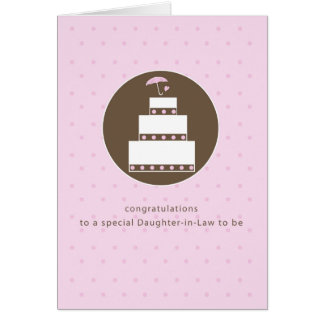 Daughter-in-Law, Bridal Shower Cake Congratulation Card